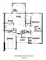 Two Bedroom with Sunroom