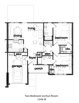 Two Bedroom without Sunroom